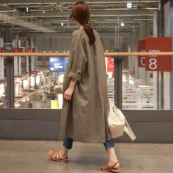 Ukawaii素敵なファッション簡約・シンプル七分袖ロング秋冬コットントレンチコート