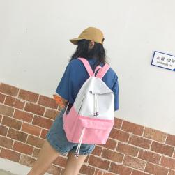 Ukawaii安価カジュアル配色帆布切り替えリュックサック
