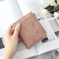 Ukawaiiお手頃価格カジュアル切り替え無地マグネットファスナー手持ち財布