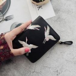 Ukawaii大人可愛いカジュアル刺繍プリント手持ち財布