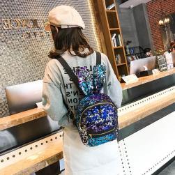 Ukawaiiレディースバッグ新作マルチカラー学園風肩がけファスナーリュックサック