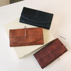 Ukawaiiシンプル通勤/OLレディース合成革PU切り替え無地全3色財布