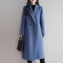 Ukawaii大人らしい雰囲気ファッション無地ロング丈コート