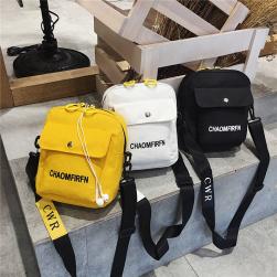 Ukawaii韓国カジュアル斜め掛け肩掛け帆布ショルダーバッグ