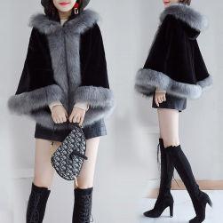 Ukawaii新作ファッションオーダー定制エレガントドルマンスリーブ防寒ポンチョ