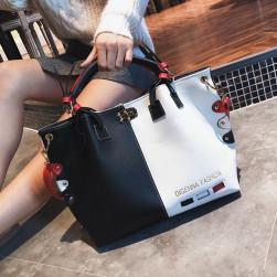 Ukawaii超人気カジュアル差込錠ハンドバック斜め掛け肩掛け配色トートバッグ