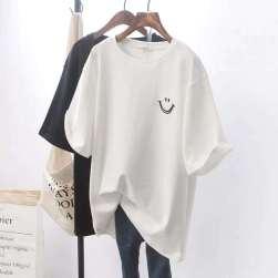 Ukawaii【No.1 人気商品!】韓国風シンプルラウンドネック人気半袖Tシャツ