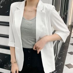 Ukawaii新入荷! 薄手 カジュアル 合わせやすい 大きいサイズ アウター 韓国ファッション 七分袖 スーツ
