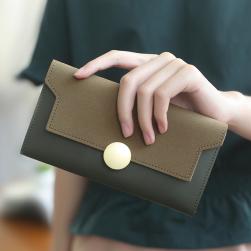 Ukawaii多色入り カジュアル オールシーズン 手持ち ホック PU 長方形 財布