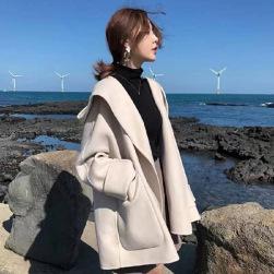 Ukawaii韓国ファッション ナイロン 組み合わせやすい ショート丈 フード付き コート