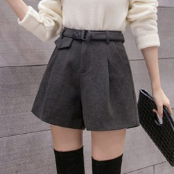 Ukawaiiストリート ファッション 韓国風 Aライン ラシャ ショートパンツ