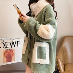 Ukawaii新作 韓国通販 ゆったり 厚手 アウター 秋冬 防寒 着痩せ コート