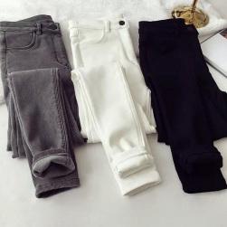 Ukawaii柔らかい ストレッチ 裏起毛 着やすい 3色 デニム スキニーパンツ