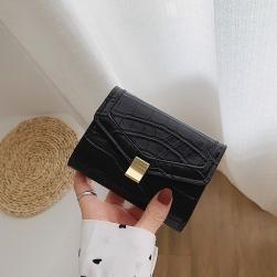 Ukawaii可愛い 無地 マグネット 清新 ミニサイズ 折畳 財布