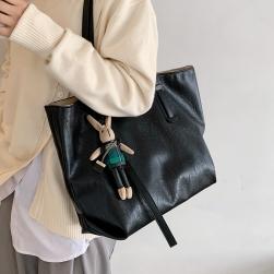 Ukawaii高級感 マグネット 無地 PU 通勤 大容量 シンプル 合わせやすい レディース 気質 トートバッグ