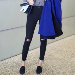 Ukawaiiレディース 通販 人気 ファッション デニム ダメージ加工 ストレッチ 美脚 スキニー レギパン