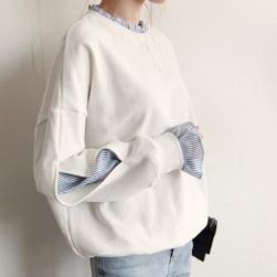 Ukawaii大流行シャツ/パーカー切り替えフリル大人可愛いレデイースファッションパーカー