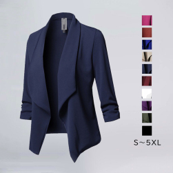 Ukawaii10色展開 今季にマスト ファッション 無地 長袖 折り襟 レディースジャケット