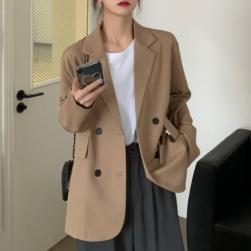 Ukawaii通勤 定番 気質良い 折り襟 無地 長袖 レディーススーツ