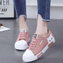 Ukawaii合わせやすい シンプル 配色 履き心地のよい靴 可愛い 22.5-25 スニーカー カジュアルシューズ