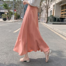 Ukawaii女性大人気 ファッション 無地 不規則 ハイウエスト Aライン スカート