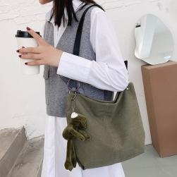 Ukawaii最安値挑戦中!カジュアル 韓国風 合わせやすい シンプル ファスナー 無地 帆布 トートバッグ