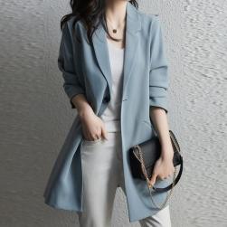 Ukawaii雑誌に掲載された シンプル 通勤 ボタン 清新 折襟 ファッション レディース スーツ