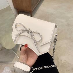 Ukawaii可愛い マグネット ラインストーンリボン 韓国ファッション レディース ショルダーバッグ