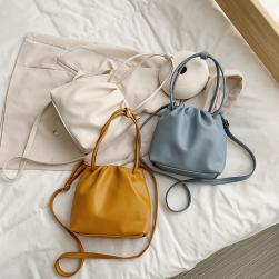 Ukawaii 独特な風合い!レディース バッグ 新作 清新 韓国風 斜め掛け ファッション 合わせやすい ins 肩掛け バケットバッグ トートバッグ