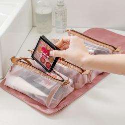 Ukawaii 人気高い シンプル 便利 大容量 収納バッグ 折り畳み 手持ち マジックテープ 化粧バッグ