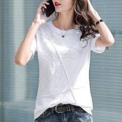 Ukawaii 韓国風 シンプル 定番 合わせやすい 無地 半袖 Tシャツ