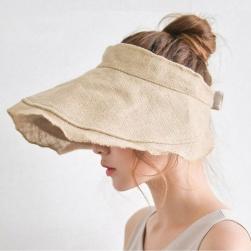 Ukawaii 早い者勝ち 韓国ファッション 自然なシワつきでおしゃれ 日焼け止め ンバイザー 帽子