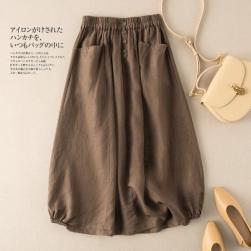Ukawaii シンプル 大人気 ボタン飾り Aライン 4色展開 S-5XL レディース スカート