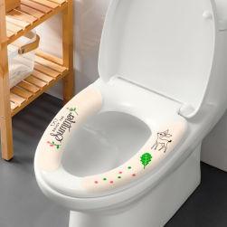 Ukawaii お買い得 貼る u型 ウォッシャブル 抗菌 防臭 防水 吸着便座 洗える洗浄暖房型 トイレ用品 便座シート
