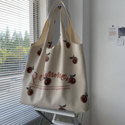 Ukawaii 可愛い プリント マグネット 文芸 大容量 帆布 トートバッグ