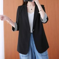 Ukawaii 定番 通勤 ストライプ柄 7分袖 薄手 レディース スーツ
