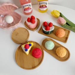 Ukawaii ins超人気 長方形 キッチン 防水 円形 不規則 ケーキ デザート テーブル用品 プレート