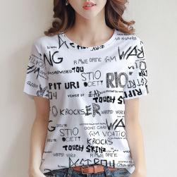 Ukawaii お洒落 楽ちん ファッション 英字 プリント 半袖 Tシャツ