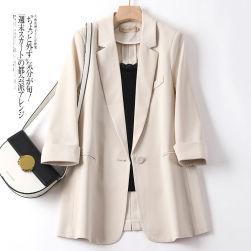 Ukawaii 話題沸騰中 通勤/OL 無地 七分袖 ファッション レディース スーツ