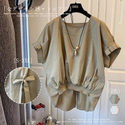Ukawaii 2021 高品質 無地 半袖 気質良い レディース シャツ