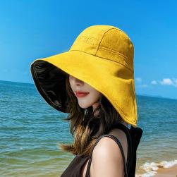 Ukawaii 楽天人気アイテム プリント 帆布 日焼け止め マジックテープ スカラップ 夏 帽子