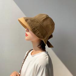Ukawaii 夏大活躍 4色展開 気質満点 サークル リボン 帆布 ハット UVカット おしゃれ 帽子