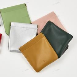 Ukawaii 全6色 高品質 カジュアル シンプル キュット PU ホック 無地 手持ち 財布
