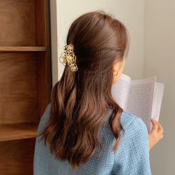 Ukawaii 一枚で視線を奪う ローズ型 エレガント 金属製 おしゃれ 髪飾り ヘアクリップ