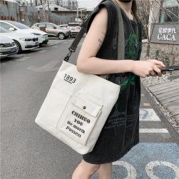 Ukawaii 韓国風 ファッション 帆布 英字 プリント 大容量 軽量バッグ