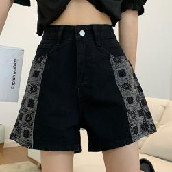 Ukawaii 激安セール ファッション ハイウエスト ファスナー ショート丈 無地 ショートパンツ