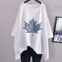 Ukawaii ゆったり 合わせやすい カジュアル プリント 半袖 Tシャツ