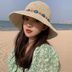 Ukawaii 清新 スウィート 日焼け対策 草編み ビーチ レディース 帽子