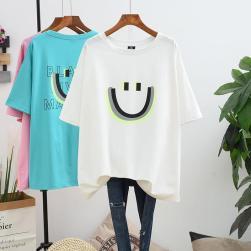 Ukawaii かわいい 定番アイテム ゆったり 体型カバー カジュアル 半袖 Tシャツ