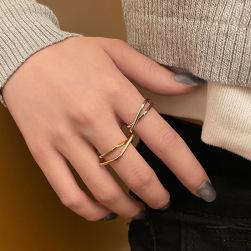 Ukawaii 新作 レディース 個性的 ファッション オープン リング 指輪